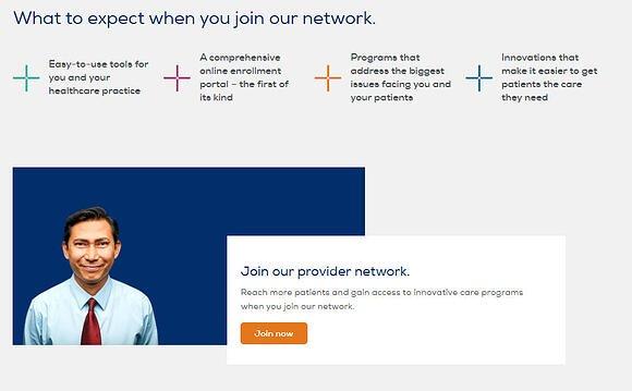 provider landing page